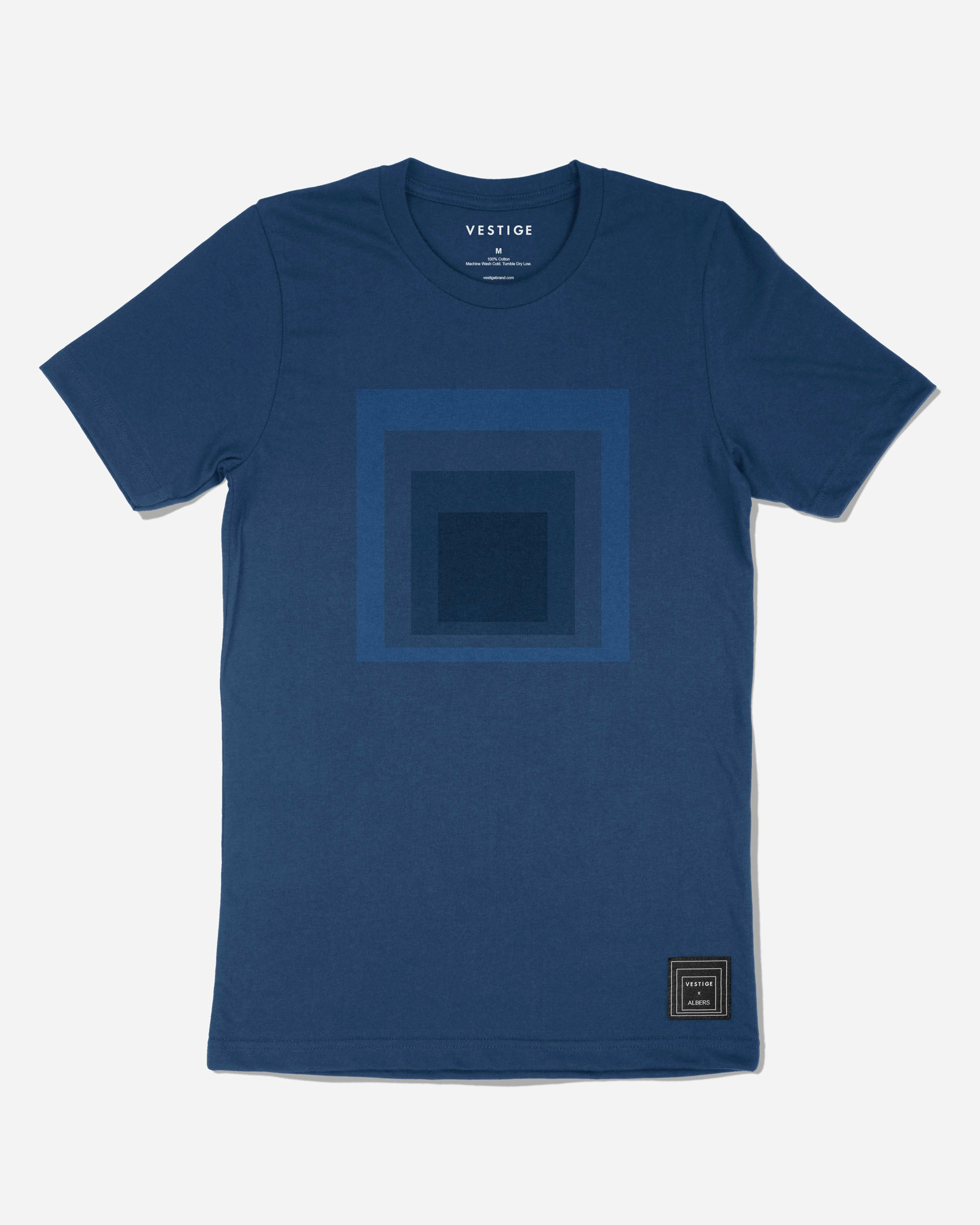 Josef Albers Tonal Homage to the Square T-Shirt, Blue