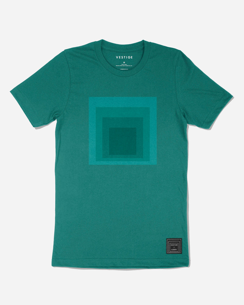 Josef Albers Tonal Homage to the Square T-Shirt, Green
