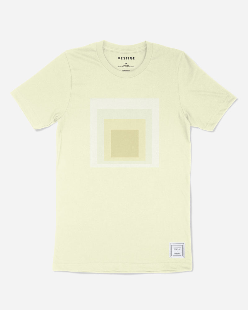 Josef Albers Tonal Homage to the Square T-Shirt, Yellow