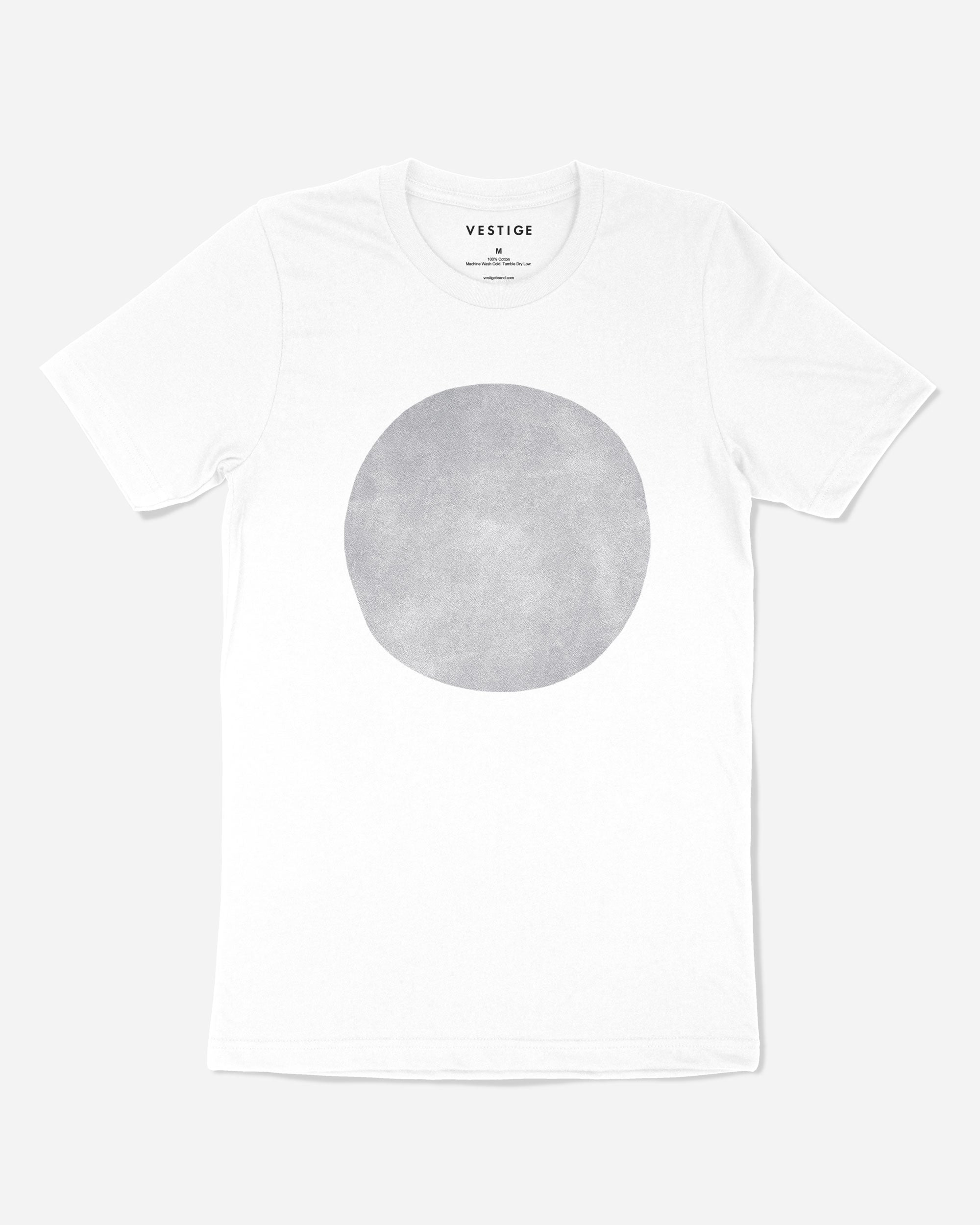 Suede Circle T-Shirt, White
