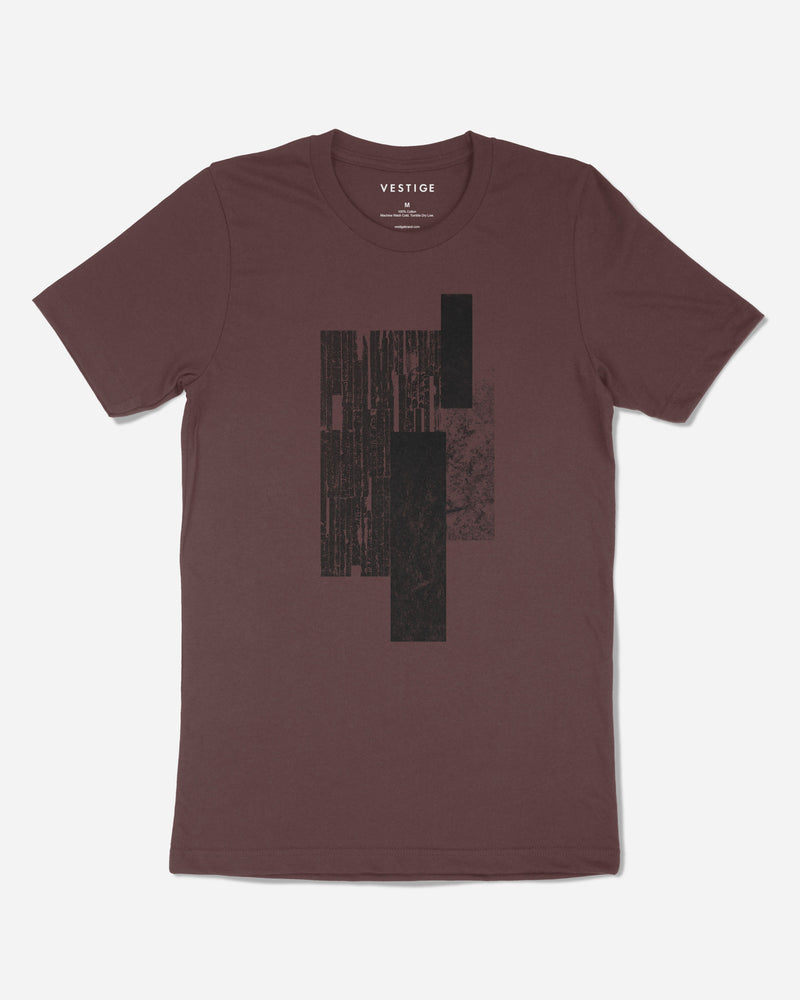 Stamped T-Shirt, Burgundy