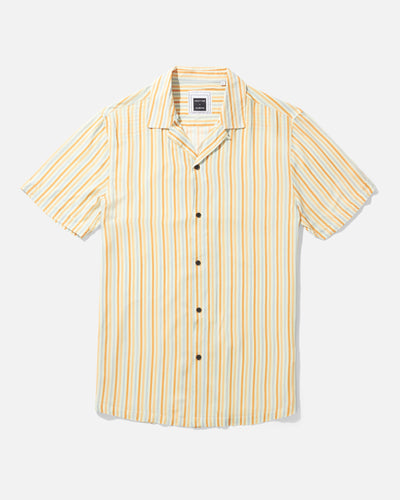 Albers Stripe Camp Shirt, Orange