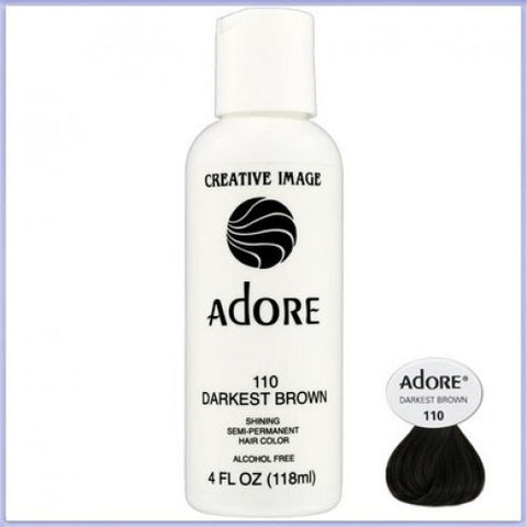 ADORE COLOR DARKEST BROWN 110