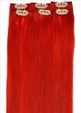 CLIP IN 18'' EXTENSION RED 6PC