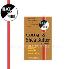 BLACK & WHITE COCOA  SOAP 6OZ