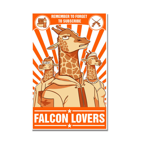 Falcon Lovers 11x17 Poster - LIMITED EDITION