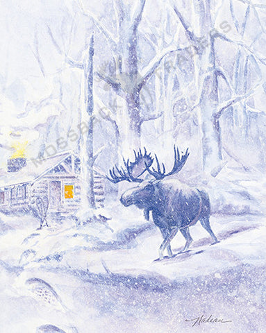 2006 Midnight Moose Print