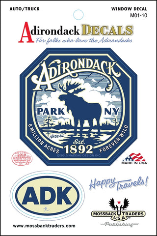 Adirondack Park Majestic Moose Sticker