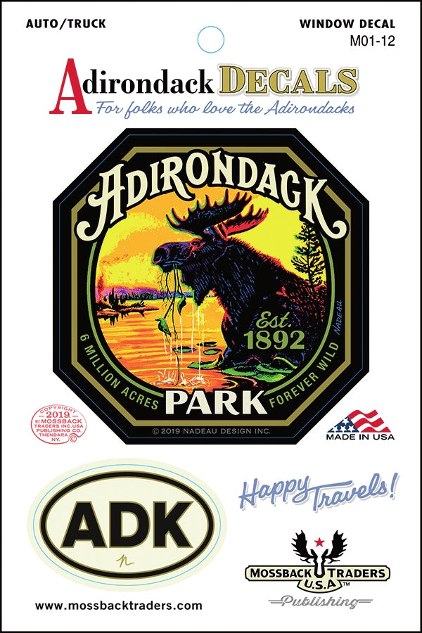 Adirondack Park Moose among the Lilypads Sticker