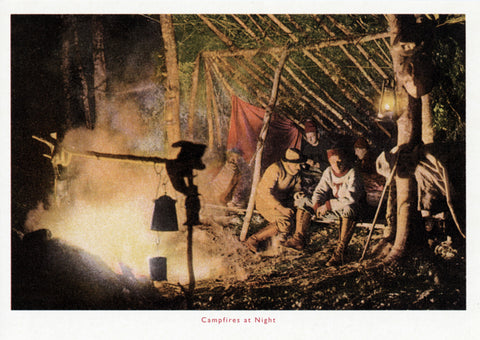 Campfires at Night Postcard