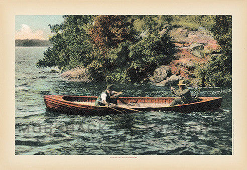 Fishing in the Adirondacks Print
