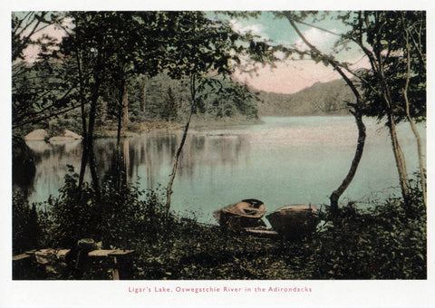 Ligar's Lake, Oswegatchie River Postcard