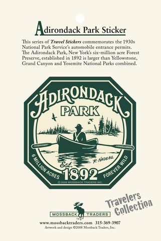 Adirondack Park Guide Sticker