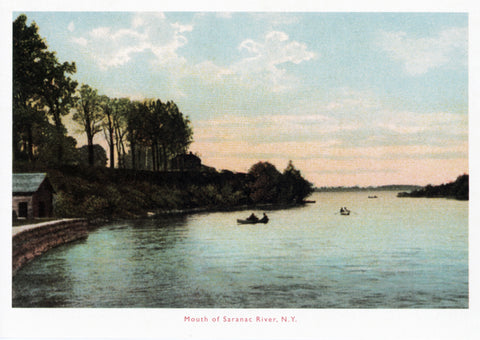 Mouth of Saranac River Postcard
