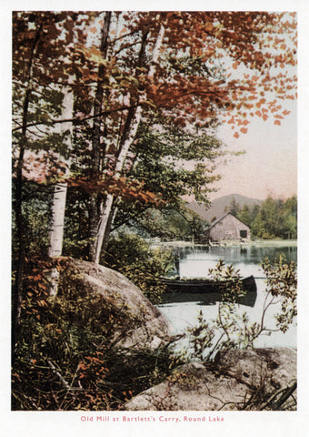 Old Mill at Bartlett's Carry Postcard