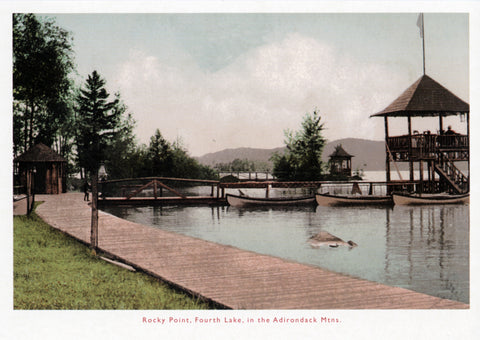 Rocky Point, Fourth Lake Postcard
