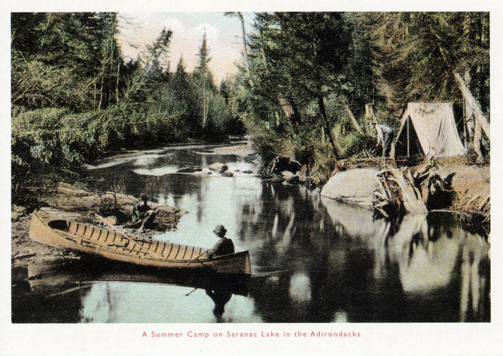 Summer Camp, Saranac Lake Postcard
