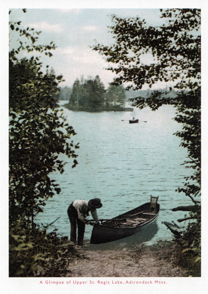Upper St. Regis Lake Postcard