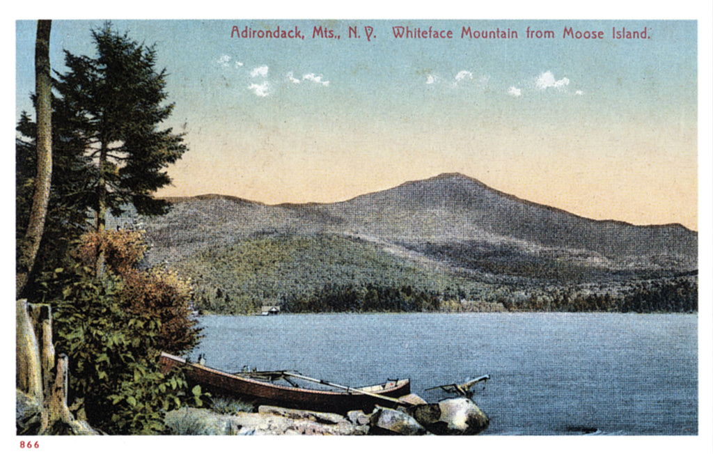 Whiteface Mountain from Moose Island Postcard