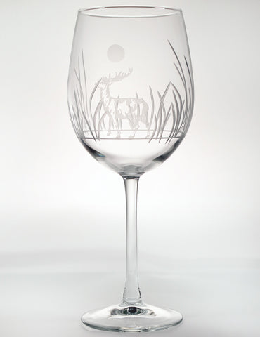 Deer Large Wine Glass (19 oz)