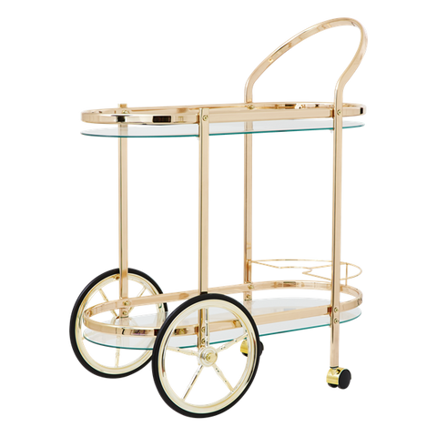 Cocktail Cart in Rose Gold