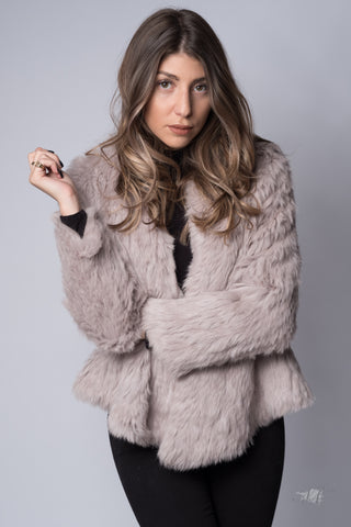 Courcheval Fur Jacket Dusty Rose