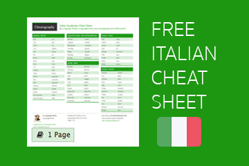 Download Free Italian Cheatsheet From Cheatography - PDF