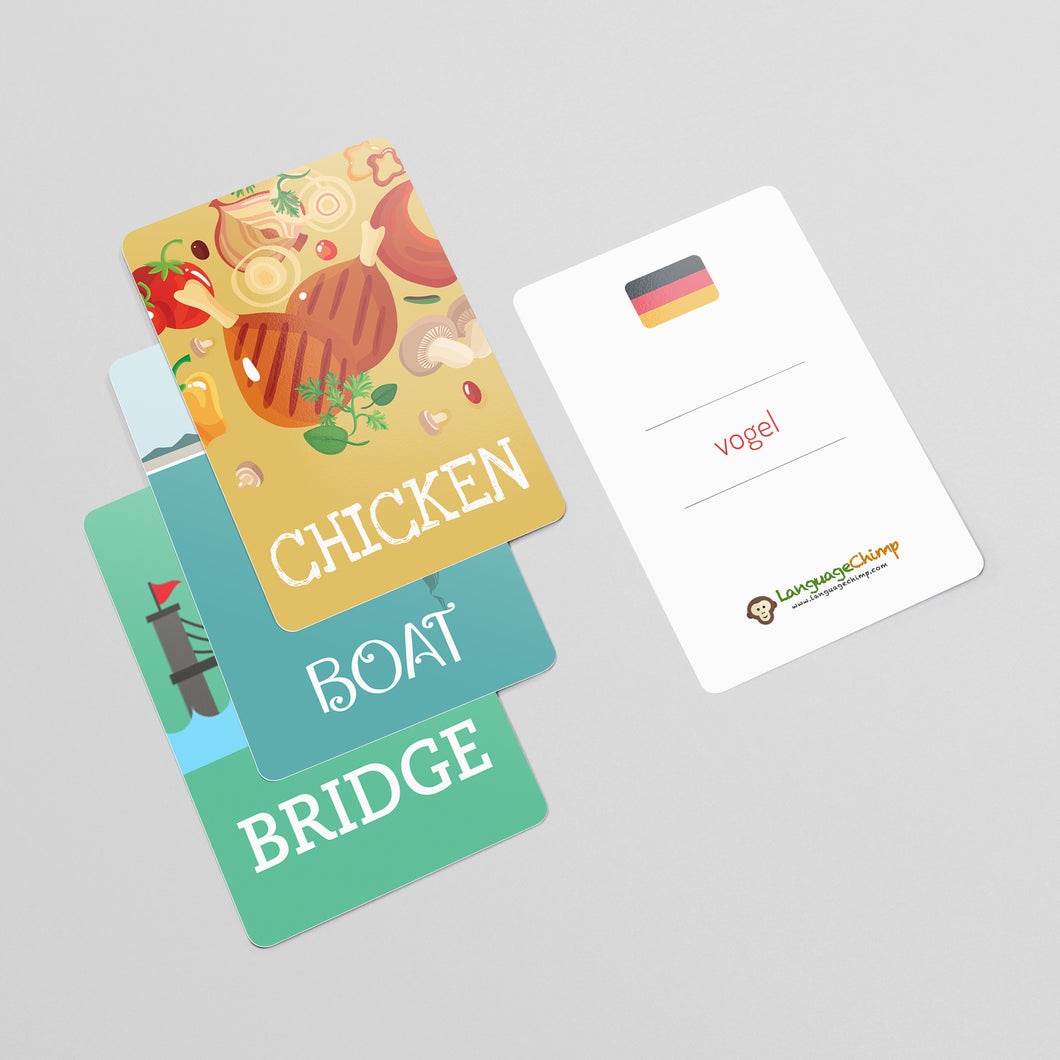 German Flashcard Set - Learn Vocabulary
