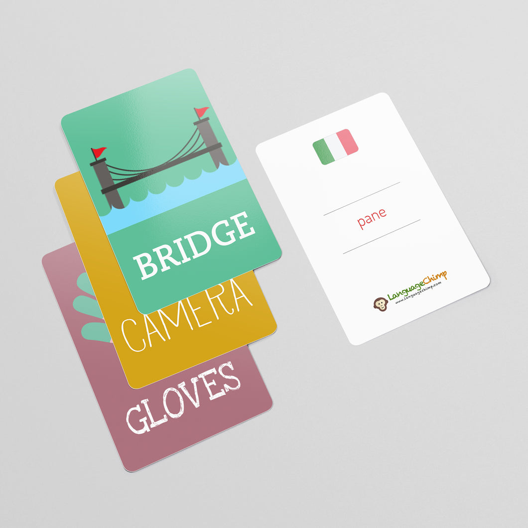 Italian Flashcard Set - Learn Vocabulary