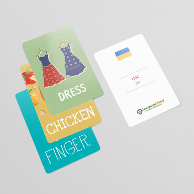 Ukrainian Flashcard Set - Learn Vocabulary