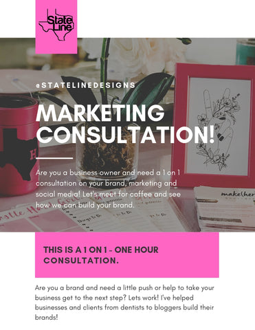 1 on 1 Business Branding 1 hour Consultation