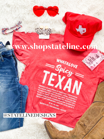 Whatalove Spicy Texan - RED Unisex tee