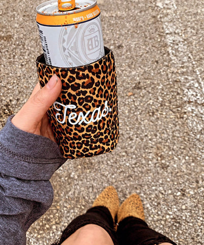 Texas Leopard Can Cooler