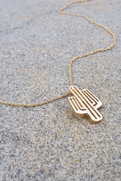 Saguaro Necklace - Gold