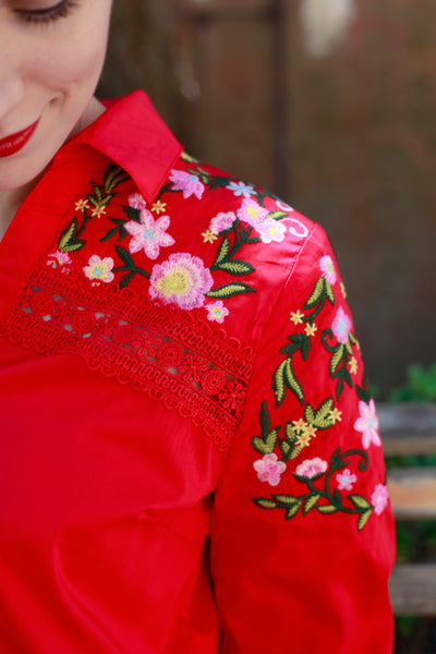 Heidi Embroidered Blouse