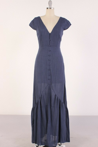 Lovers' Lane Maxi Dress - Blue