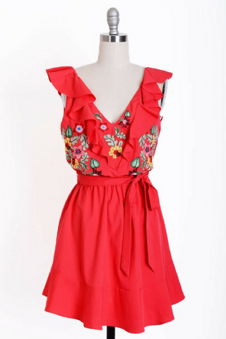 Stitch & Kitsch Dress - Red