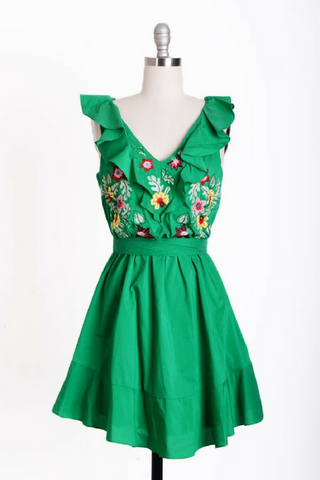 Stitch & Kitsch Dress - Green