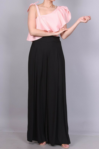 Callista Wide Leg Trousers - Black