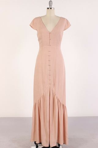 Lovers' Lane Maxi Dress - Mauve
