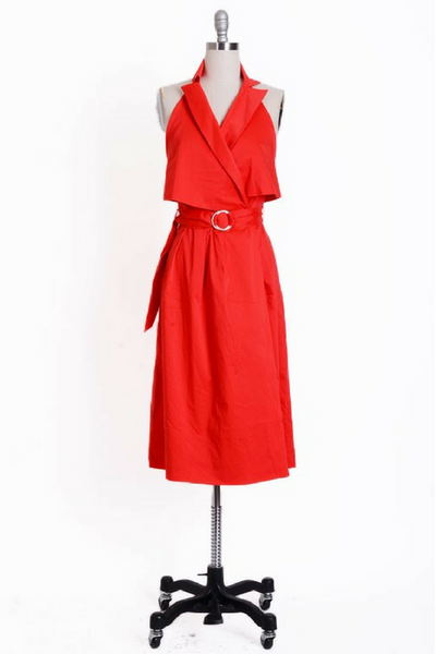 Fire Engine Trench Dress