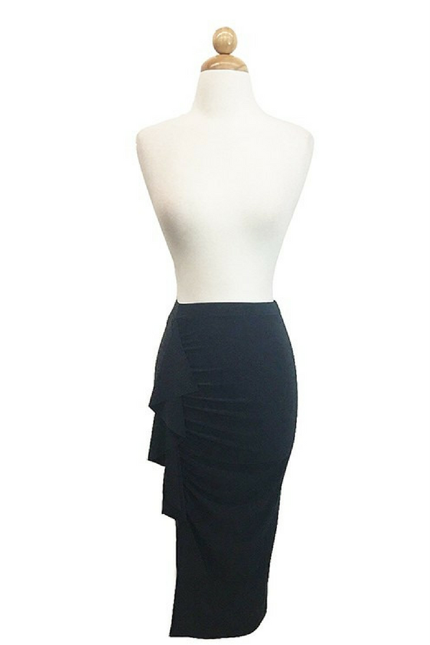 Ready To Ruffle Skirt - Black