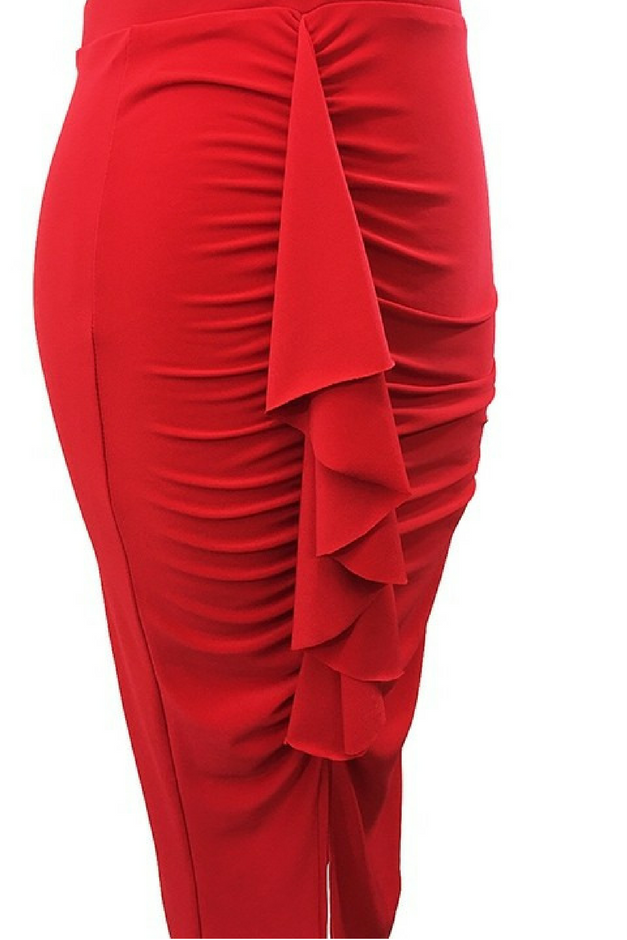 Ready To Ruffle Skirt - Red