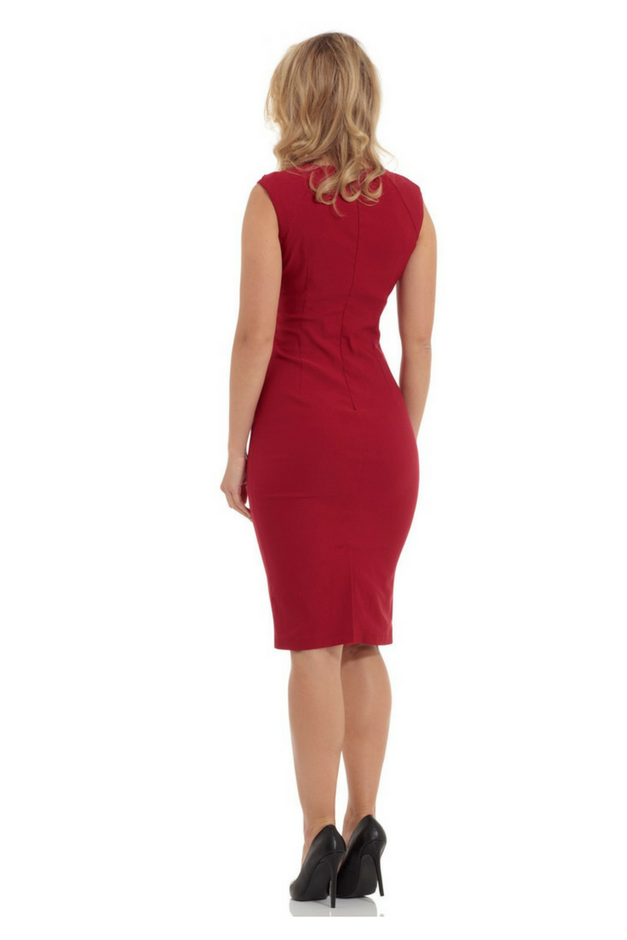 Perfect Pencil Dress - Red