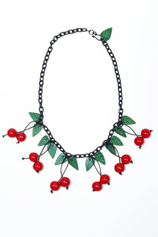 Fakelite Cherries Necklace - Red