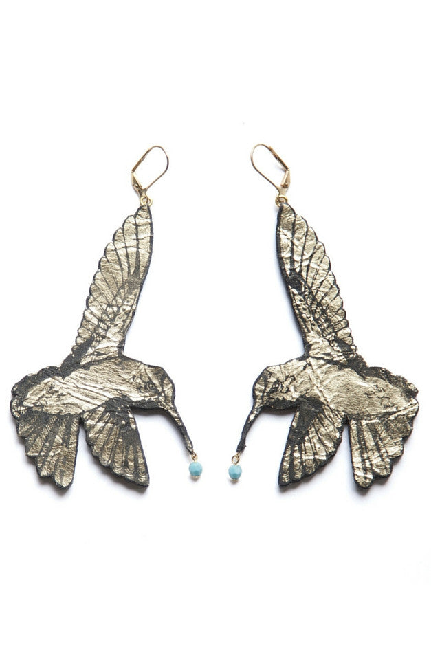 Hummingbird Earrings - Gold
