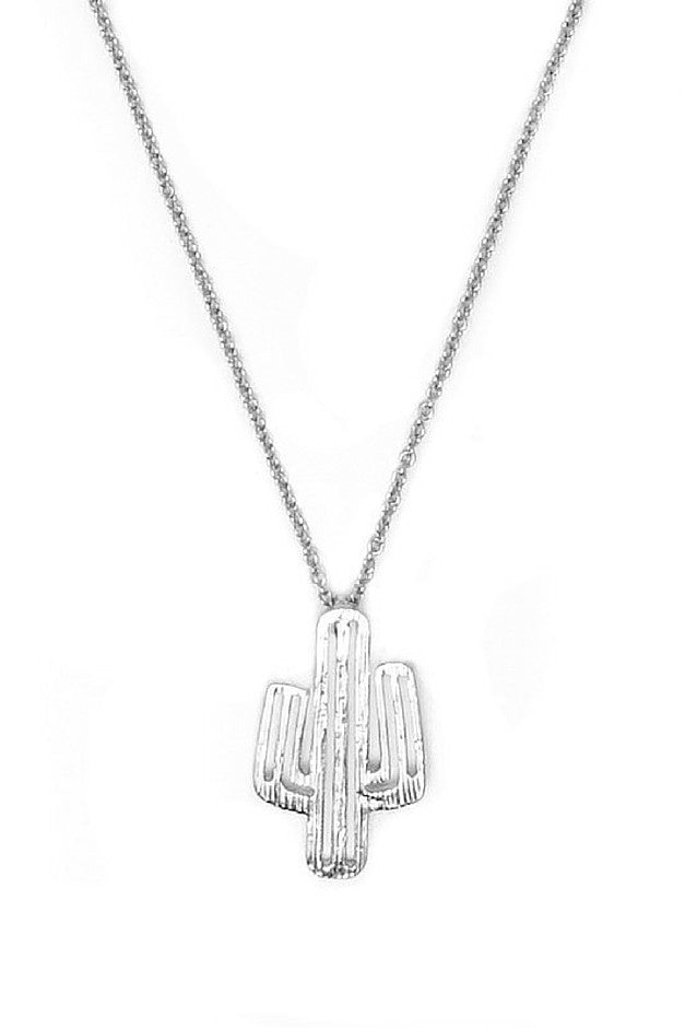 Saguaro Necklace - Silver