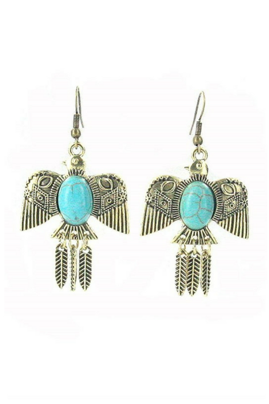 Thunderbird Earrings - Silver