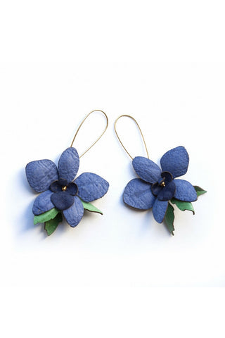 Orchid Earrings - Violet