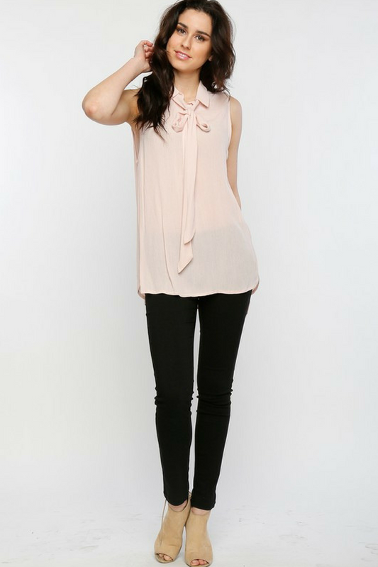 Secretary Blouse - Pink